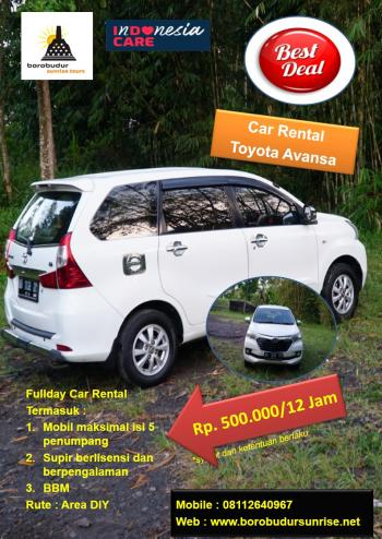 Car Hire All New Avansa in Yogyakarta