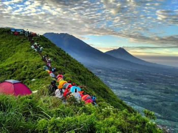 Nice Panorama from Andong Mountain Magelang